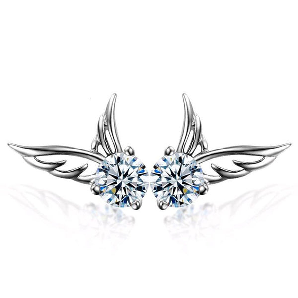 Crystal Angel Wings Earrings