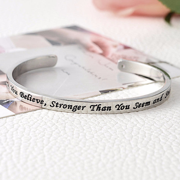 Braver Stronger Smarter Bangle