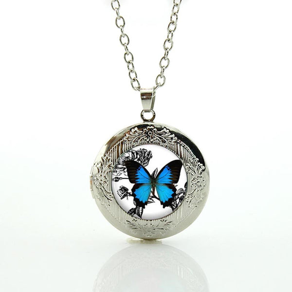 Butterfly Vintage Locket Pendant