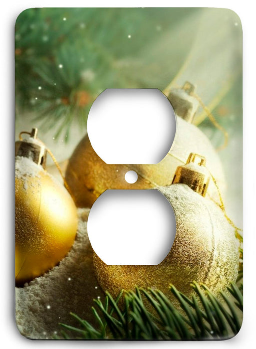 A Beautiful Christmas Outlet Cover - Colorful Switches