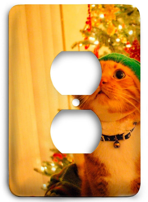 A Cats Christmas Outlet Cover - Colorful Switches