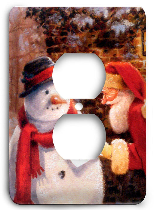 A Letter On Christmas Night Outlet Cover - Colorful Switches
