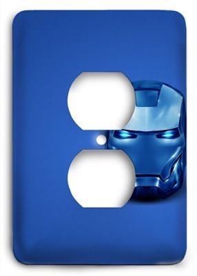 Abstract Blue Iron Man Outlet Cover - Colorful Switches