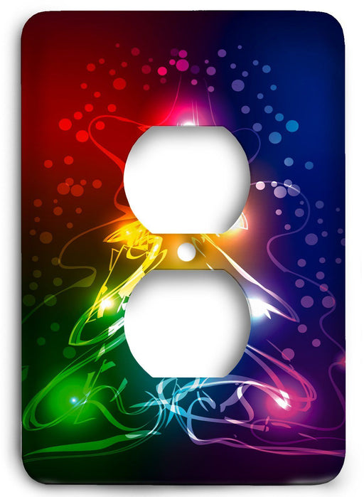 Abstract Color Tree Outlet Cover - Colorful Switches