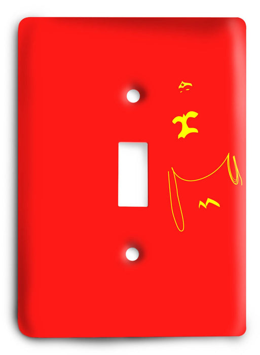 Abstract Wonder Woman Amazon v49 Light Switch Cover - Colorful Switches
