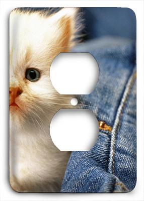 Adorable Kitten Outlet Cover - Colorful Switches
