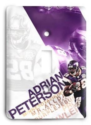 Adrian Peterson v3 Light Switch Cover - Colorful Switches