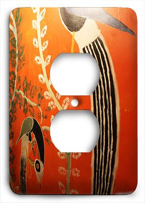 Afro House Art Outlet Cover - Colorful Switches