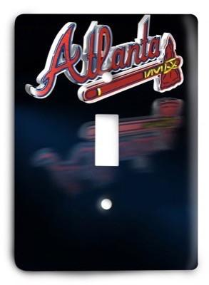 Atlanta Braves MLB 12 Light Switch Cover - Colorful Switches