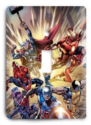 Avenger Streets Marvel Comics G3 Light Switch Cover - Colorful Switches
