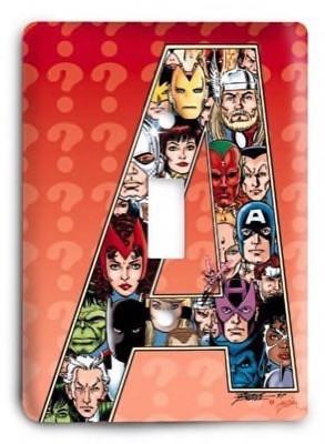 Avengers A-Team Marvel Comics G3 Light Switch Cover - Colorful Switches