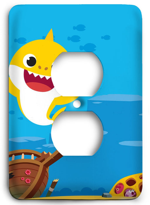 Baby Shark  v01 Outlet Cover - Colorful Switches