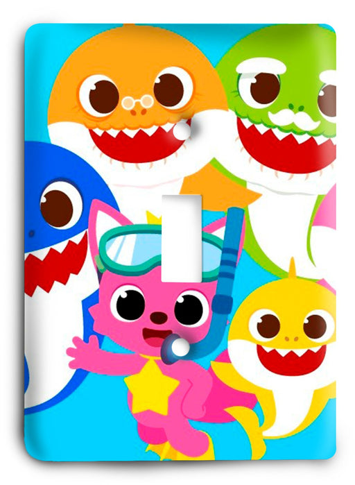 Baby Shark  v04 Light Switch Cover - Colorful Switches