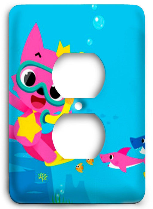 Baby Shark  v06 Outlet Cover - Colorful Switches