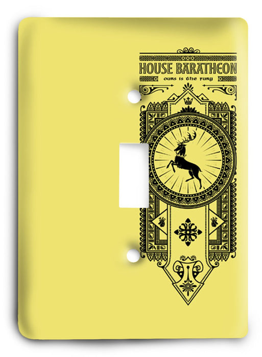 Baratheon Game Of Thrones G5v52 Light Switch Cover - Colorful Switches