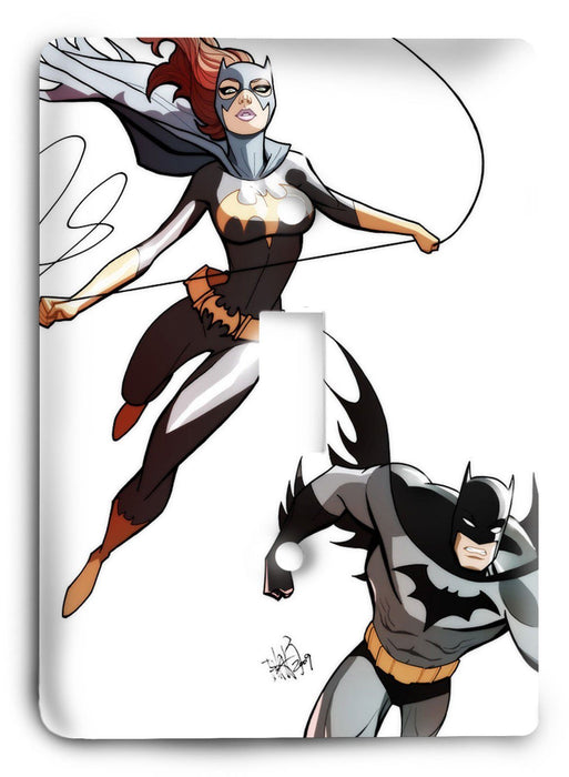 Batgirl Batman Dark Hero v48 Light Switch Cover - Colorful Switches