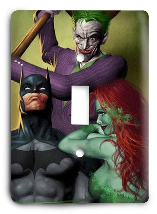 Batman Dark Hero v1 Light Switch Cover - Colorful Switches