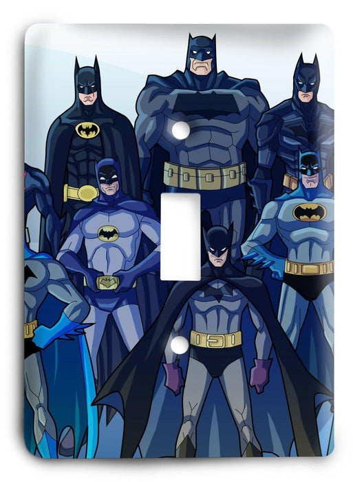 Batman Dark Hero v46 Light Switch Cover - Colorful Switches