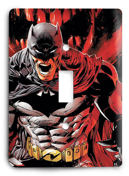 Batman Dark Hero v57 Light Switch Cover - Colorful Switches