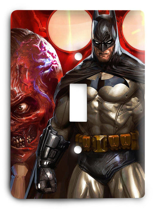 Batman Knight Rise v73 Light Switch Cover - Colorful Switches