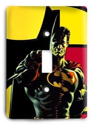 Batman Superman United Abstract Light Switch Cover - Colorful Switches
