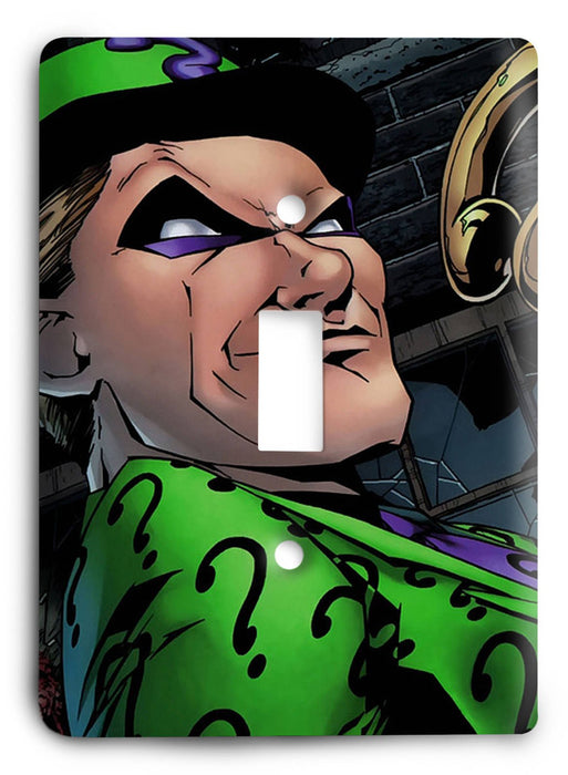 Batman The Riddler Two Face G5 Light Switch Cover - Colorful Switches