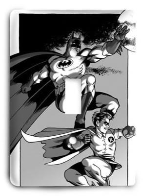 Batman and Robin Old School Marvel Comics G3 Light Switch Cover - Colorful Switches