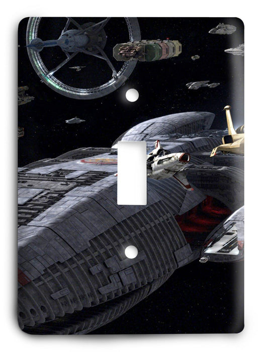 Battlestar Galactica v19 Light Switch Cover - Colorful Switches