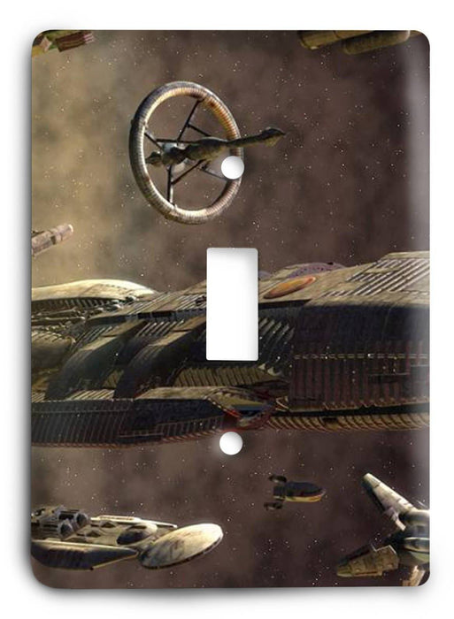Battlestar Galactica v8 Light Switch Cover - Colorful Switches