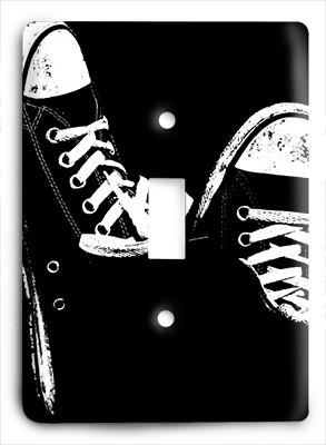 Black And White Converse Light Switch - Colorful Switches