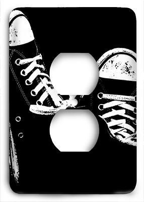 Black And White Converse Outlet Cover - Colorful Switches