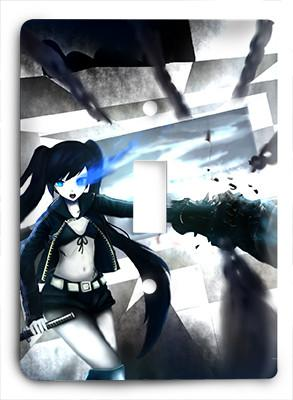 Black Rock Shooter Light Switch - Colorful Switches