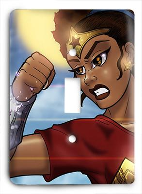 Black Wonder Woman v2 Light Switch - Colorful Switches