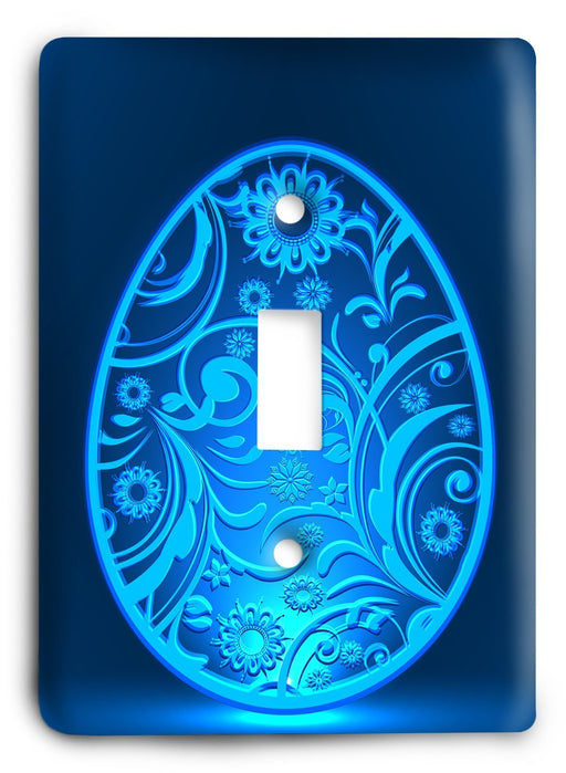 Blue Easter Light Switch Cover - Colorful Switches