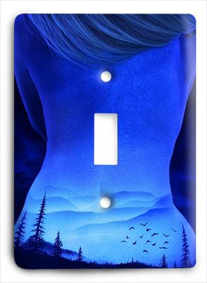 Blue Sky Silk Light Switch - Colorful Switches