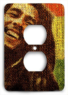 Bob Marley Love The Life You Live Outlet Cover - Colorful Switches