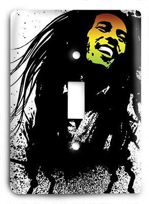 Bob Marley Water Colors Light Switch - Colorful Switches