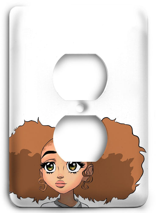 Boondocks Jazmine Dubois v01 Outlet Cover - Colorful Switches