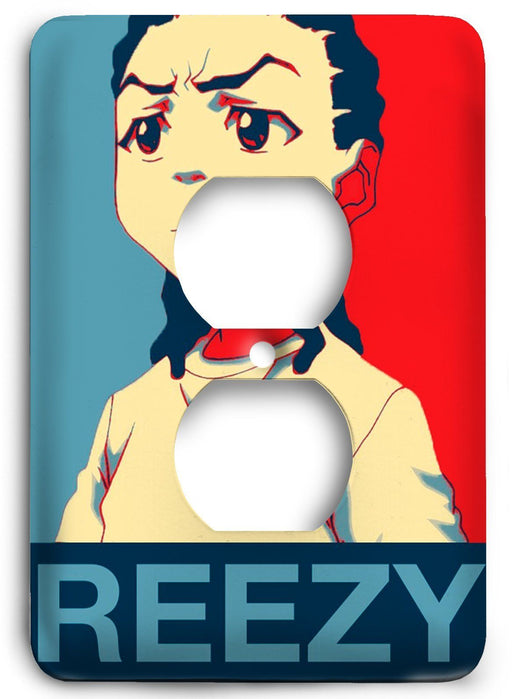 Boondocks Riley Freeman v07 Outlet Cover - Colorful Switches