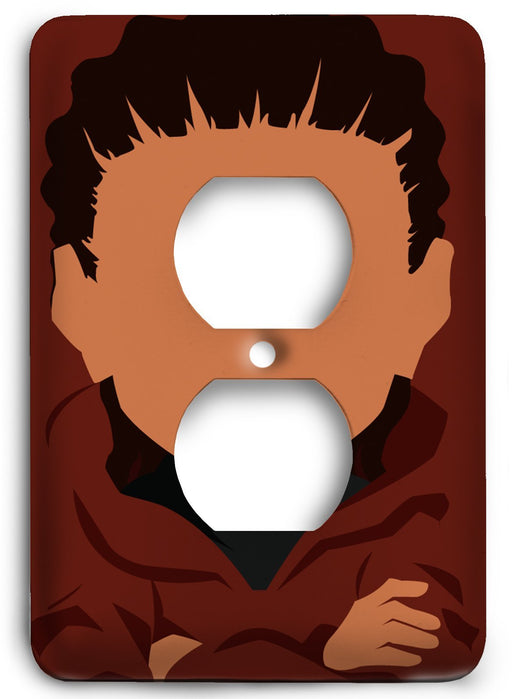 Boondocks Riley Freeman v22 Outlet Cover - Colorful Switches