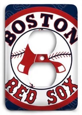 Boston Red Sox 09 Outlet Cover - Colorful Switches