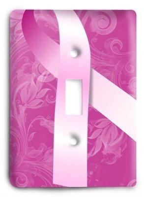 Breast Cancer Awareness Month Light Switch Cover - Colorful Switches