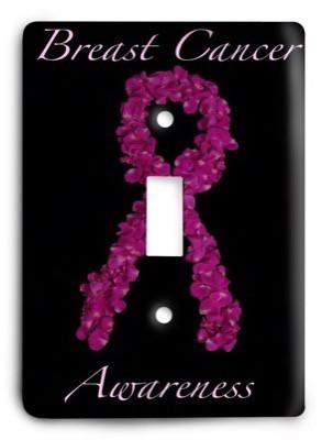 Breast Cancer Awareness g2 4 Light Switch Cover - Colorful Switches