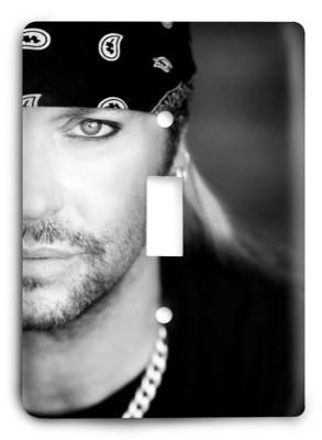 Bret Michaels 3 Light Switch Cover - Colorful Switches