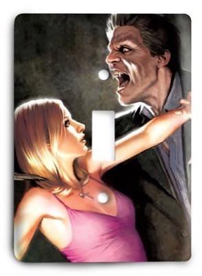 Buffy The Vampire Slayer G3 4 Light Switch Cover - Colorful Switches