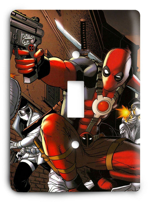 Cable And Deadpool Light Switch Cover - Colorful Switches