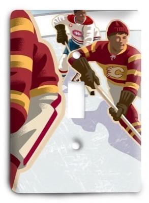Calgary Flames NHL 03v Light Switch Cover - Colorful Switches