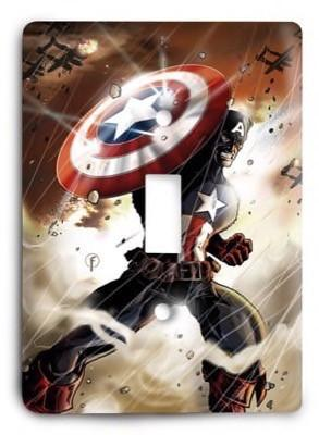 Captain America Light Switch Cover - Colorful Switches