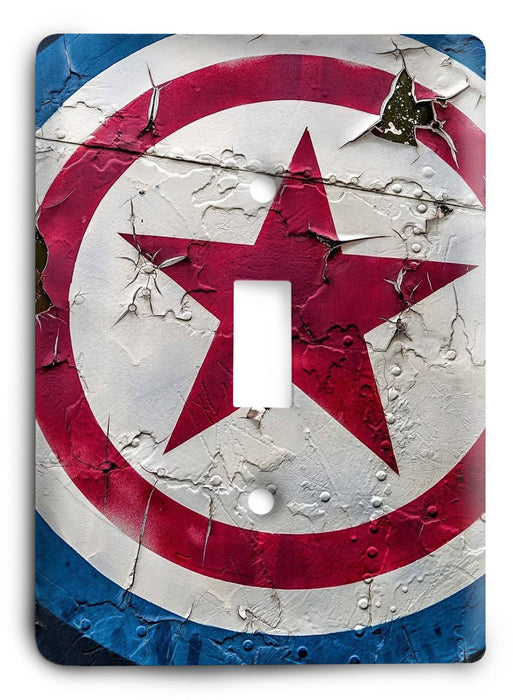 Captain America Shield Light Switch Cover - Colorful Switches