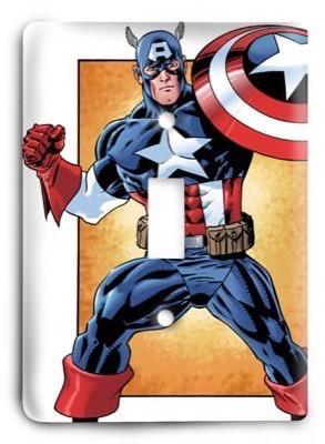 Captain America comic Marvel Comics G3 Light Switch Cover - Colorful Switches